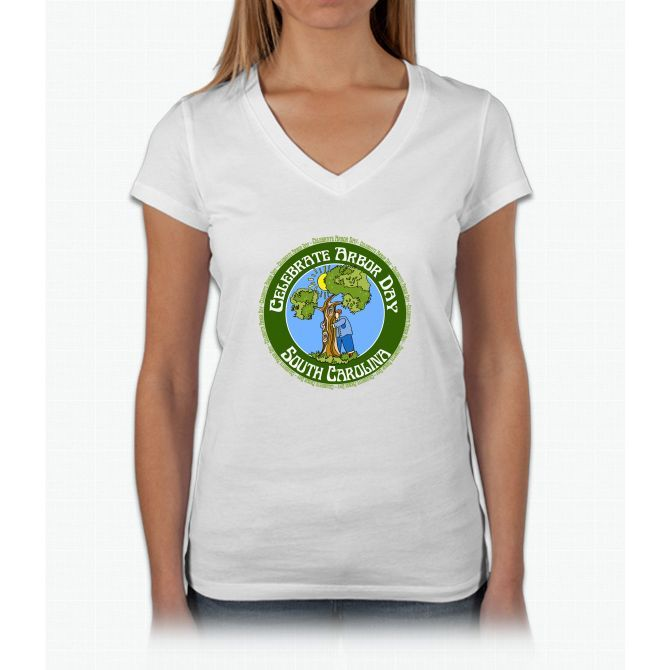 Arbor Day South Carolina Womens V-Neck T-Shirt