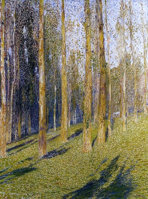 Henri Martin (French, 1860-1943), Forest, 1895. Oil on canvas, 74.5 x 56 cm.