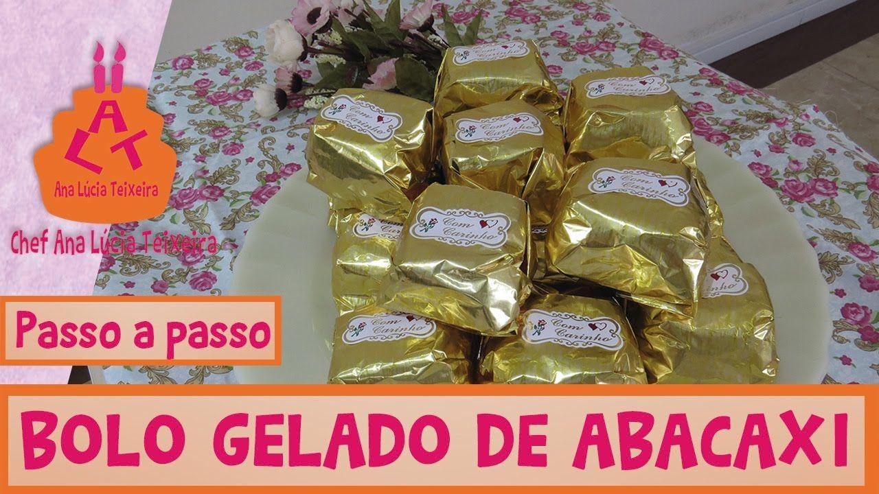 BOLO GELADO DE ABACAXI COM COCO # 082