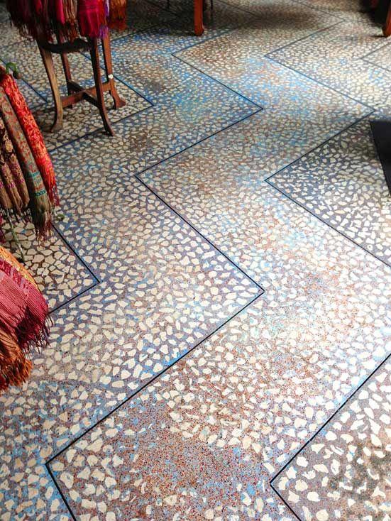 terrazzo pattern with shells stein beton pinterest fu boden und steine. Black Bedroom Furniture Sets. Home Design Ideas