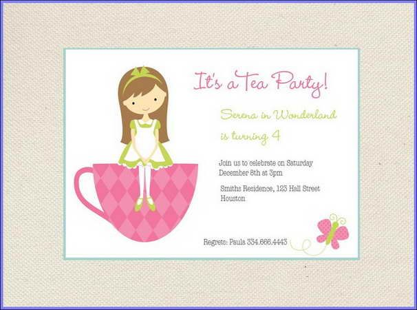little girls tea party ideas Posts related to Tea Party Invitation