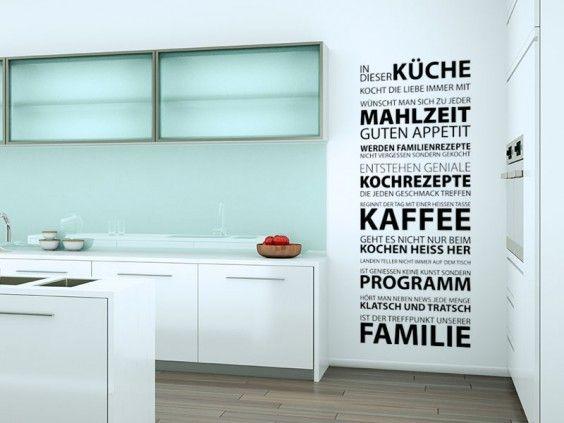 wandtattoo in dieser k che ist eine passende wohnidee f r jeden k chenbereich mit hilfe dieser. Black Bedroom Furniture Sets. Home Design Ideas