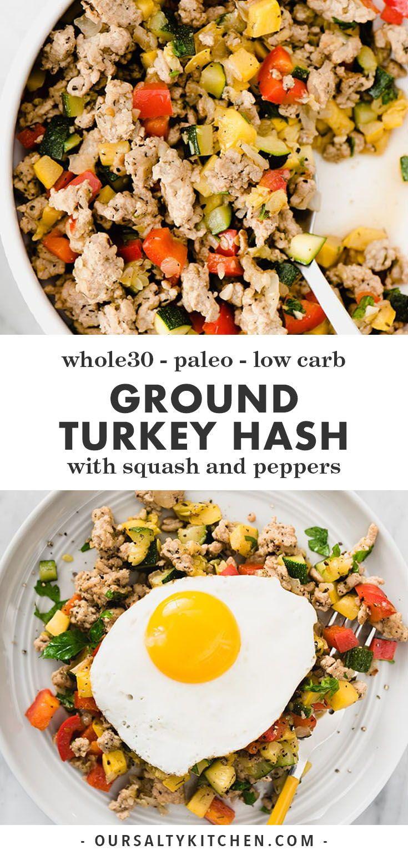 Paleo and Whole30 Ground Turkey Hash Recipe Healthy