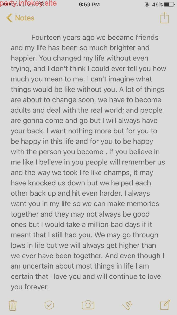 Brief An Beste Freundin