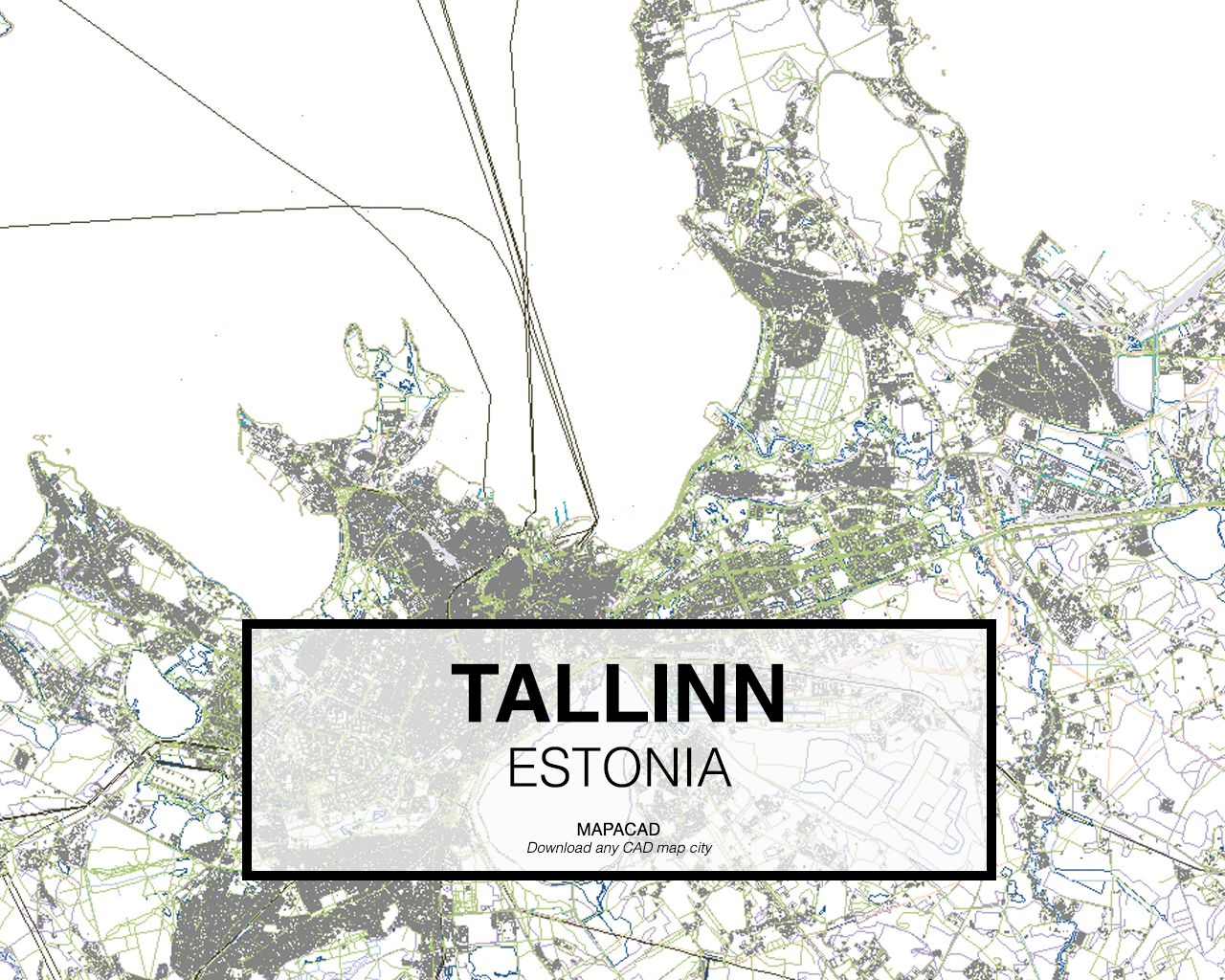 Tallin Estonia Download CAD Map City In Dwg Ready To Use In - Estonia map download