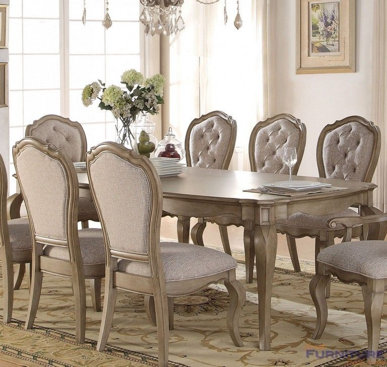 Acme Furniture  Chelmsford Antique Taupe Dining Table Two Leaves New Quality Dining Room Tables Inspiration