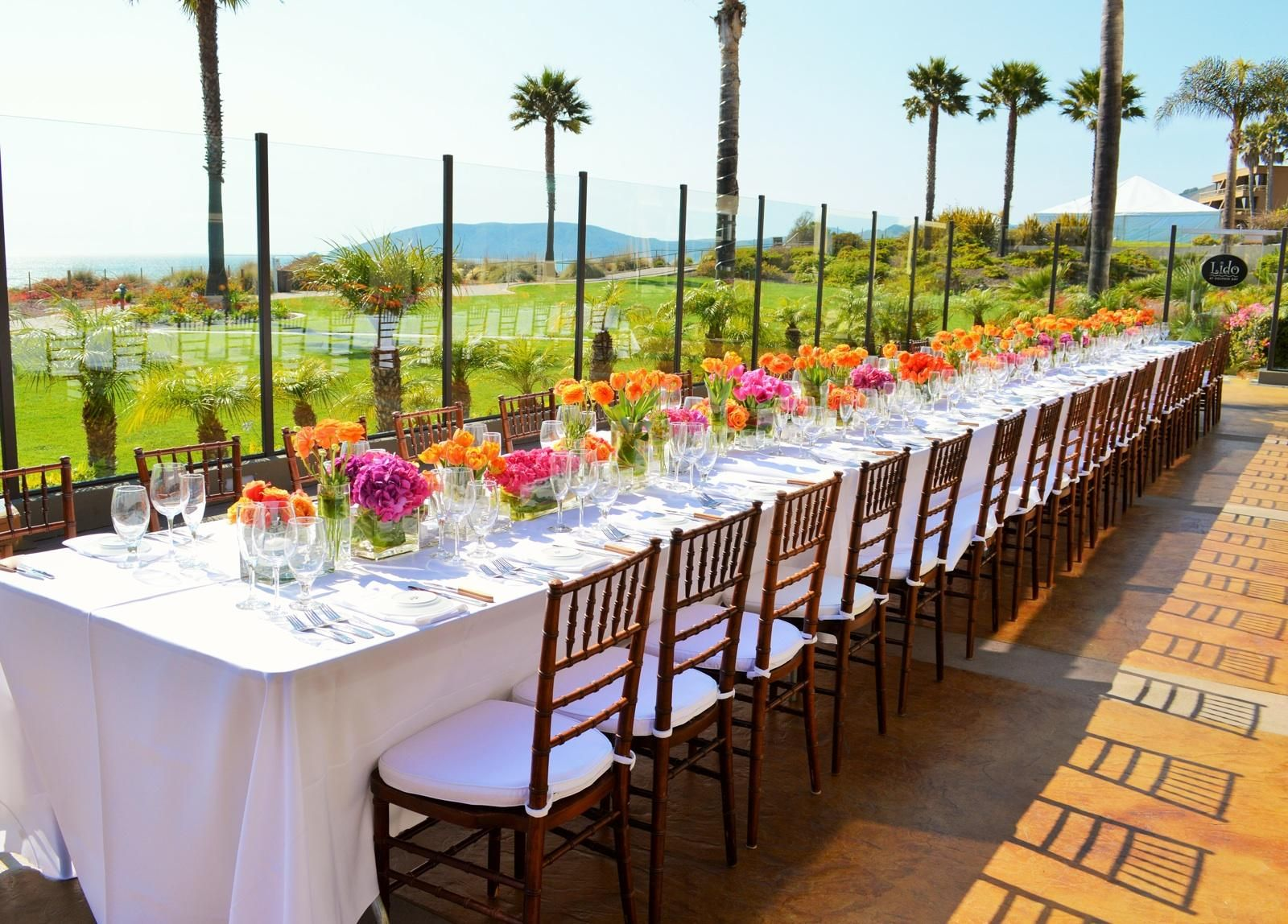 Gorgeous Wedding Rehearsal Dinner Set Up On Lido At
