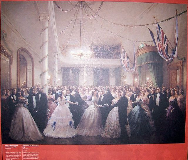'Confederation Ball, Province House' painting by Will S., via Flickr #dressesfromthesouthernbelleera 'Confederation Ball, Province House' painting by Will S., via Flickr #dressesfromthesouthernbelleera
