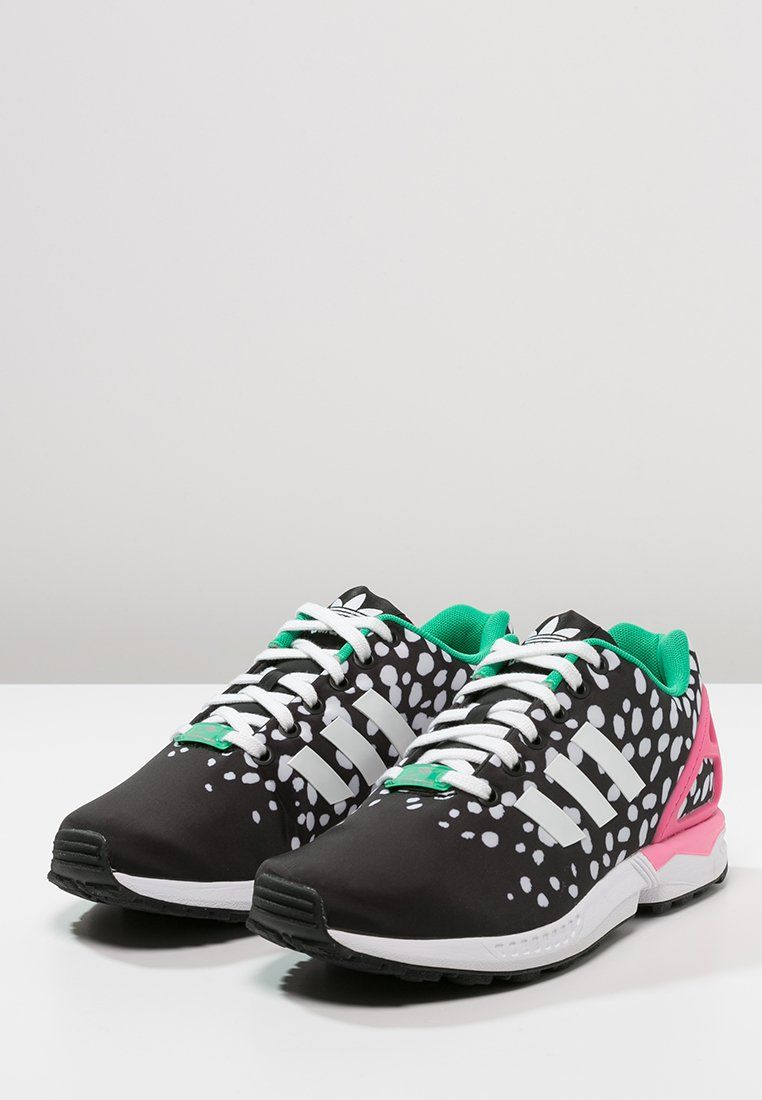 adidas Originals ZX FLUX - Sneakers laag - core black/white ...