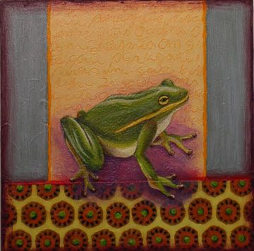 Art, frog, painting, whimsical, pattern www.rachelpaxton.com