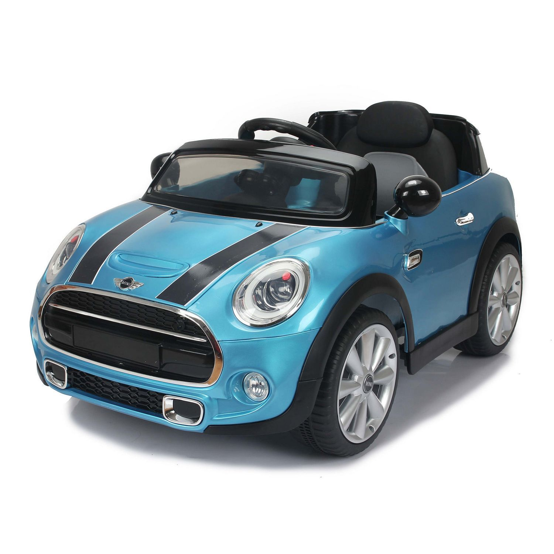 Daymak Mini Cooper Kids Electric Ride on Toy Car Blue