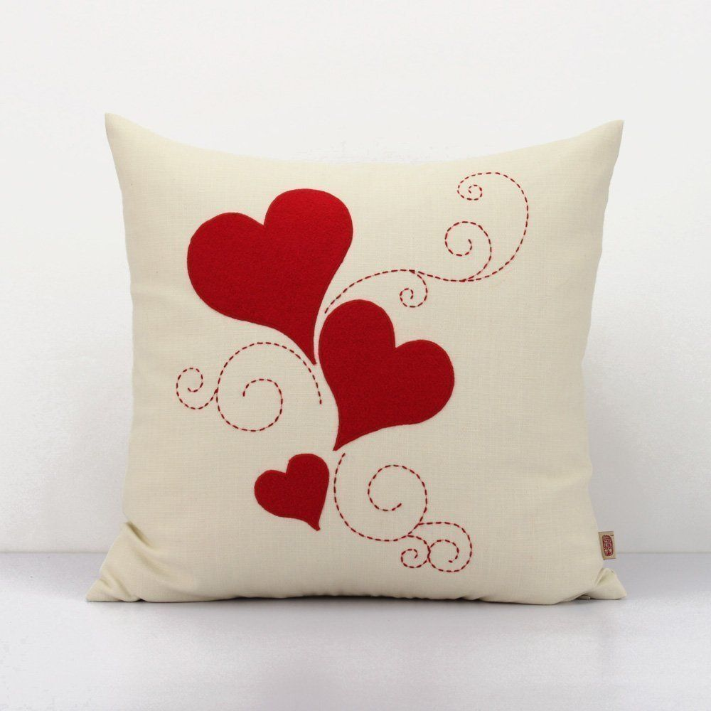 Heart Throw Pillow Love Cushion Cover Love Pillow Case Wedding