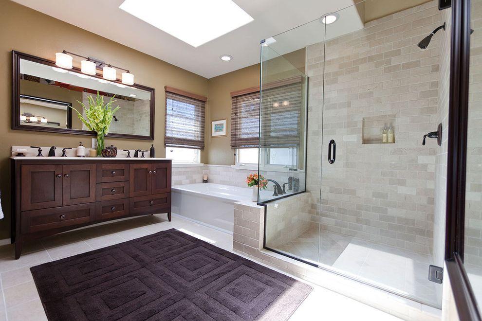 3x5 Bathroom Rugs With Traditional Double Vanity