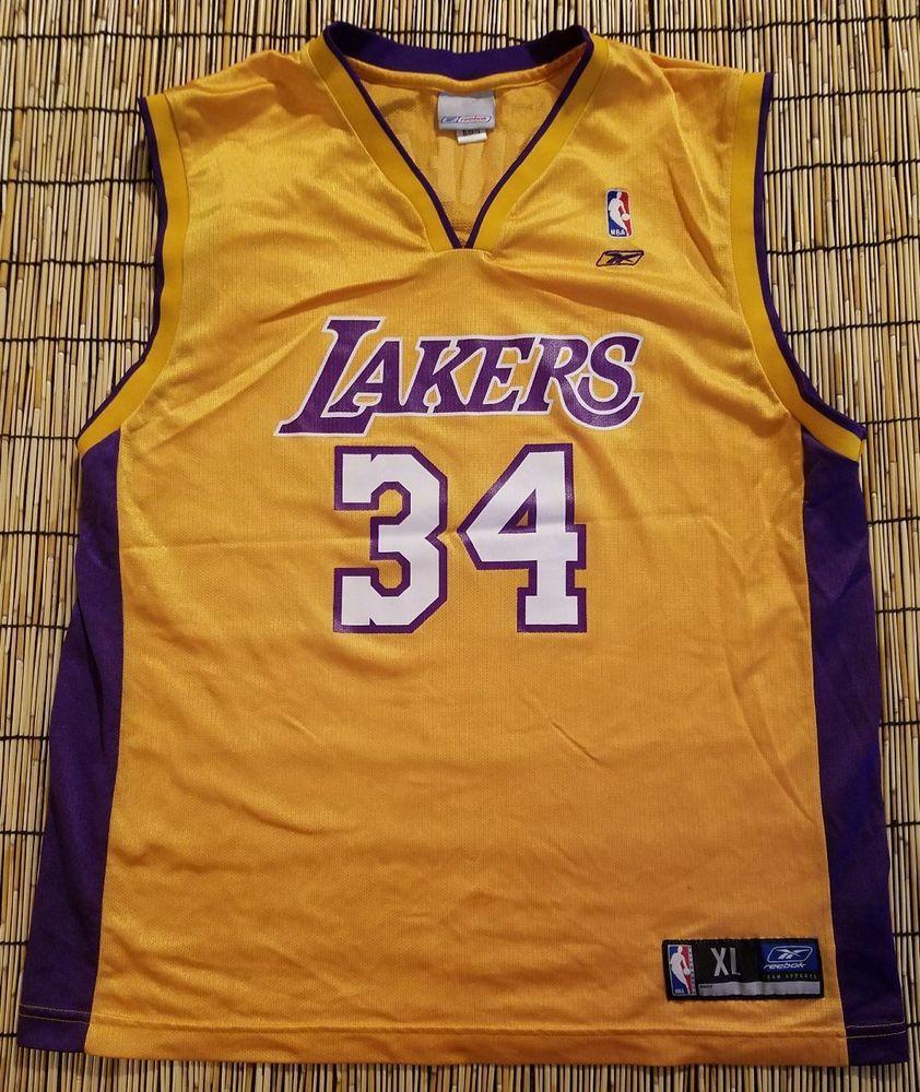 9c0e7d8e0  losangeles  lakers  vintage  shaquilleo neal  center  34  basketball   jersey