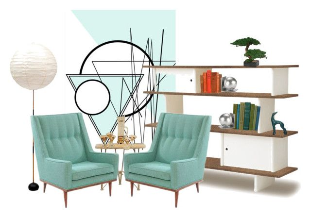 """""""Mid Century Cocktail"""" by vintagecocobythelake ❤ liked on Polyvore featuring interior, interiors, interior design, home, home decor, interior decorating, WALL, Oeuf, Lloyd Flanders and Costa del Sol"""