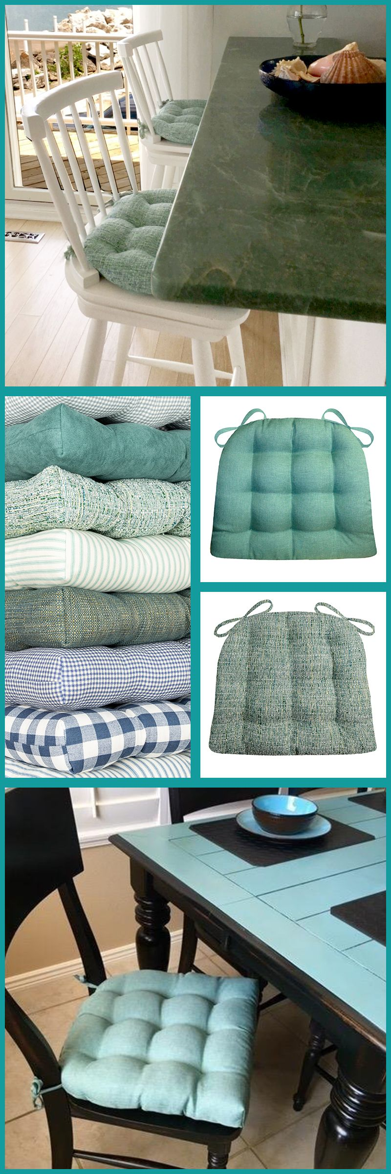Barnett Home Decor Has The Perfect Aqua Turquoise Teal Or Blue Dining Chair Pad For Your Beach Or Coastal Dec Home Decor Blue Dining Chair Dining Chair Pads