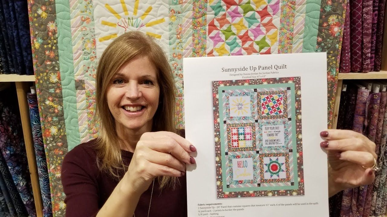 Sew Easy Free Pattern Panel Project Youtube Panel Quilts Panel Quilt Patterns Easy Sewing