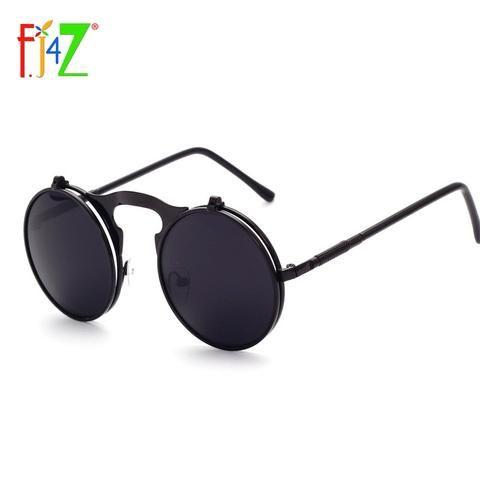 ee98b42cd F.J4Z fashion cool designer round metal frame UV400 protection flip top  Sunglasses for men & women's oculos sunglasses wholesale