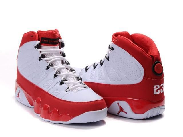 reputable site d3025 3ccaa Jordan 9 Retro Shoes White Red - Fashions-R-Us-Free-Worldwide-Shipping