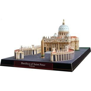 Basilica of Saint Peter, Vatican,Architecture,Paper Craft,Europe,Italy,Catholic,cross,Rome,dome,Vatican,obelisk,world heritage,cathedral