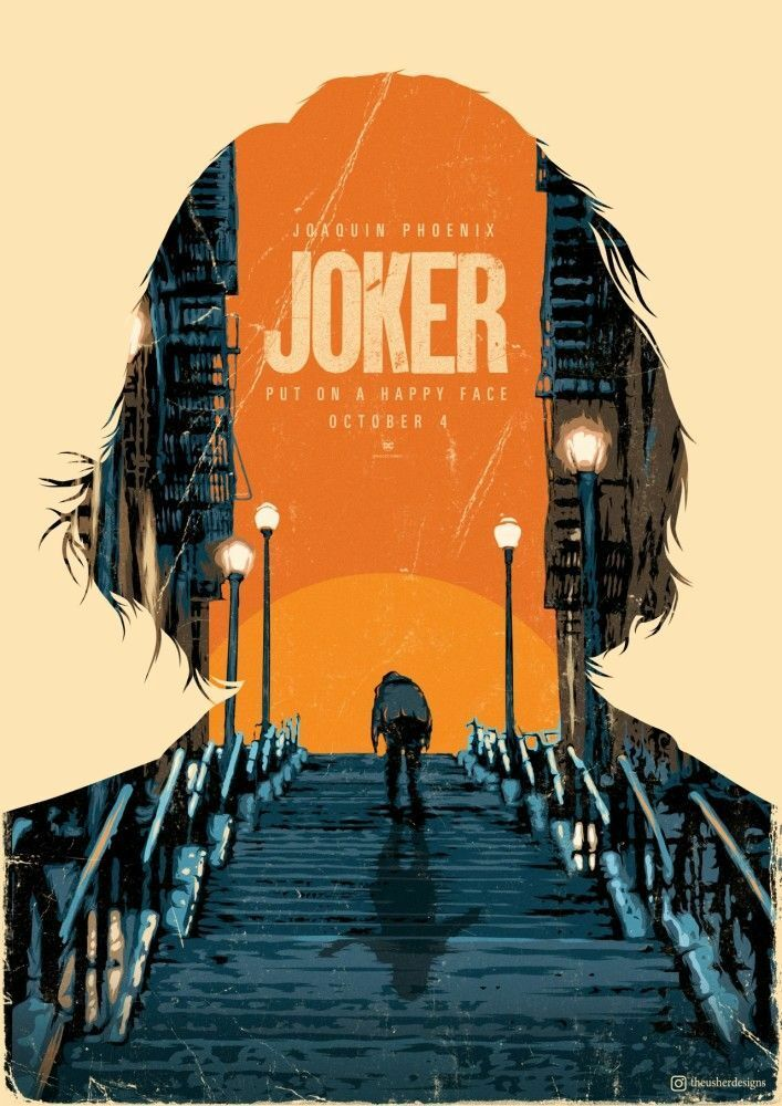 Weekly Inspiration Dose 064 - Indieground Design #graphicdesign #design #art #inspiration #joker #movie #movieposter #dc #joaquinphoenix #illustration #illustrationart