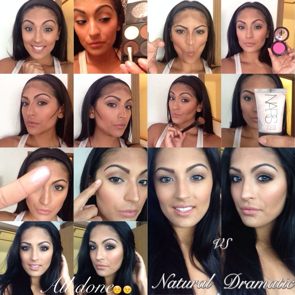 Step by step how i contour and highlight for natural look