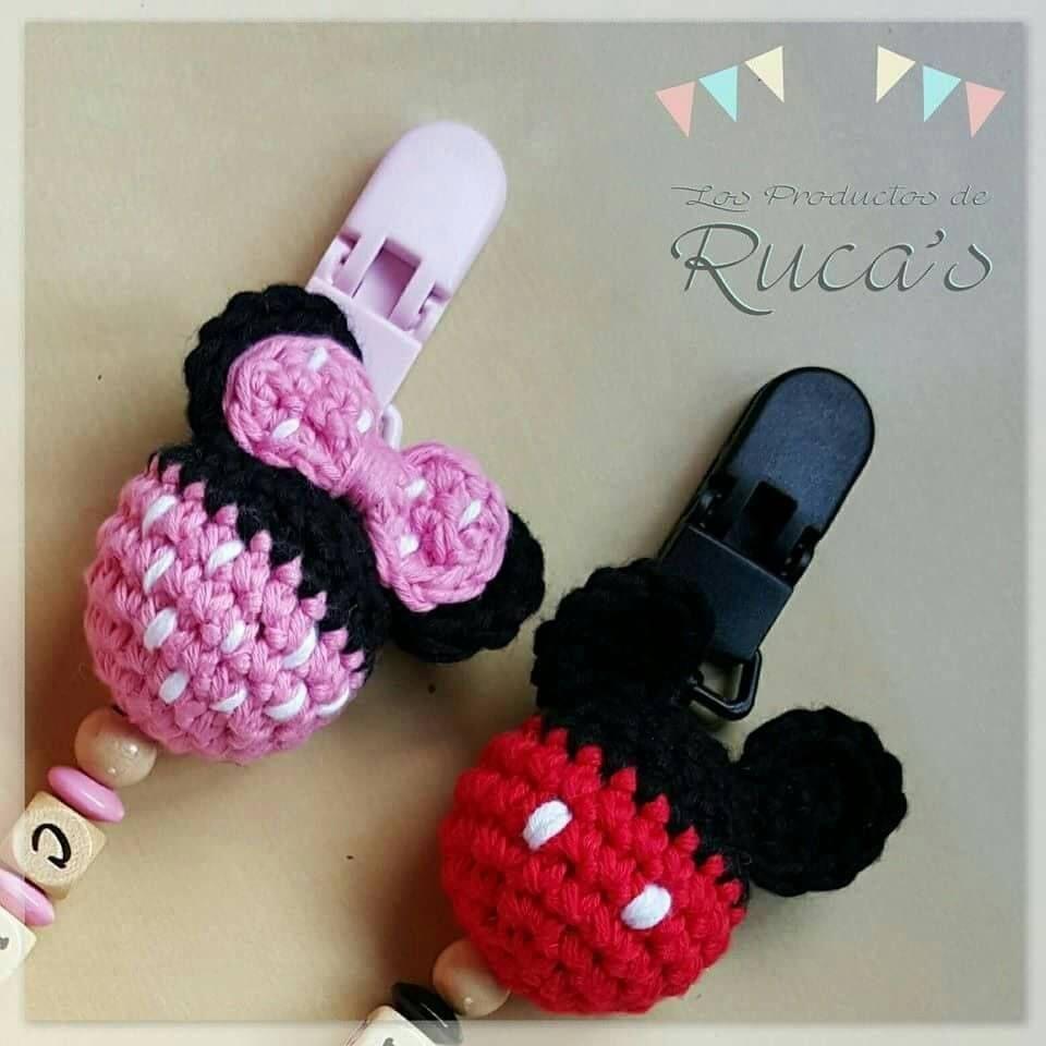 Patron Amigurumi Baby Minnie : Los Productos de Rucas: Patron chupetero Mickey & Minnie ...