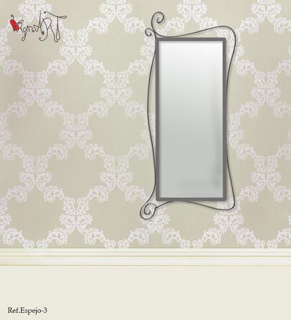 Espejos de forja virginiart.es  Muebles y espejos de forja modernos fabricados de forma artesanal y bajo pedido. Consúltanos por medidas y acabados.