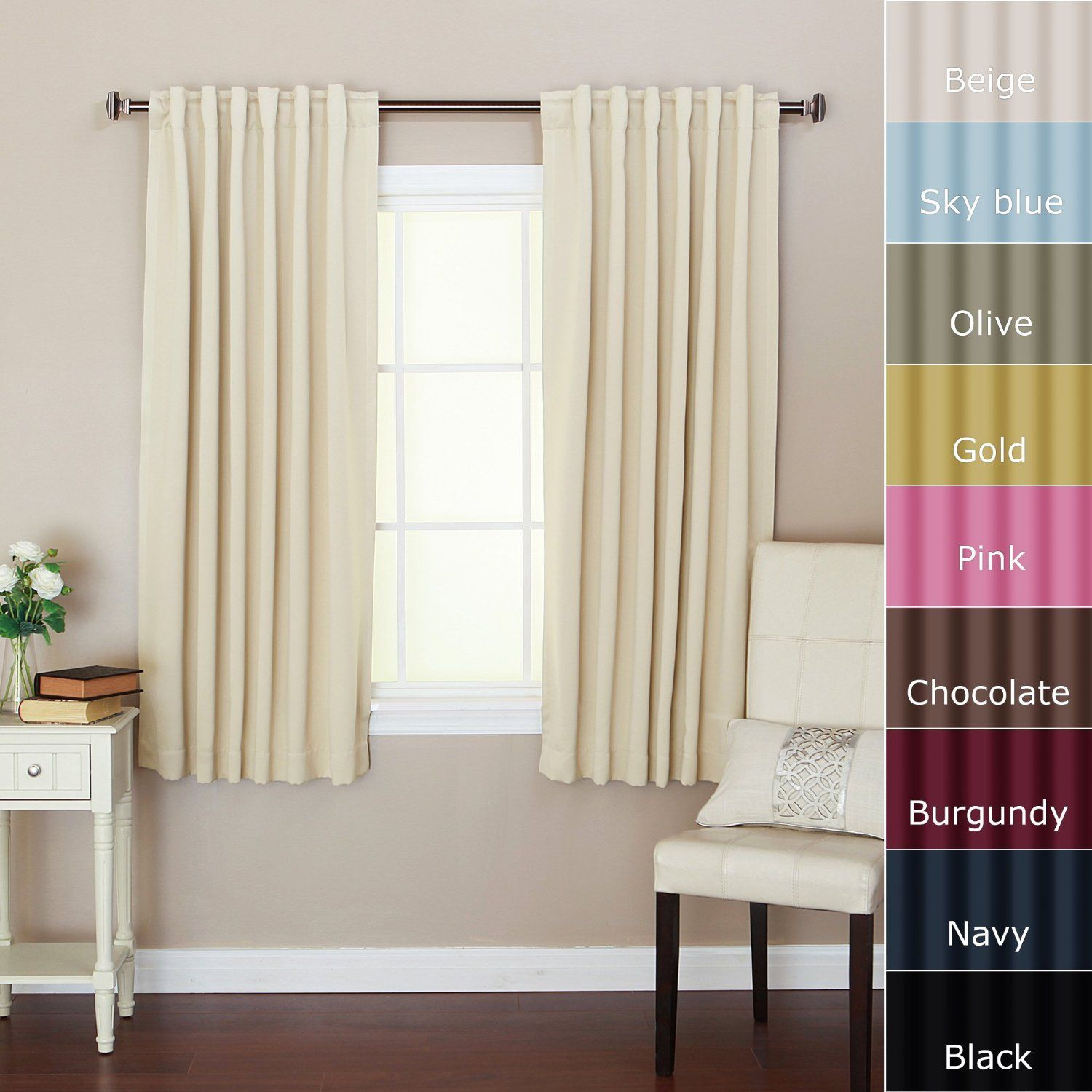 Solid Thermal Insulated Blackout Curtain | Curtains - From Amazon ...
