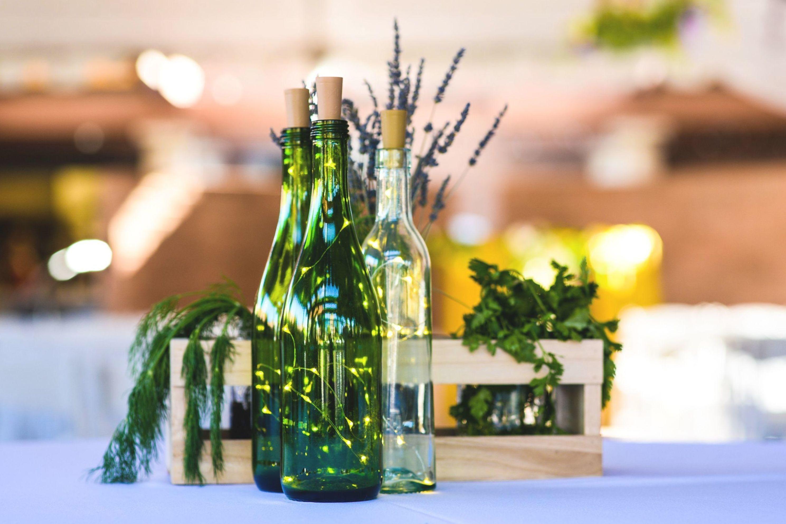 Twinkle Lights Wine Bottle Centerpiece | Wedding Decoration | BravoBride in  2020 | Wine bottle wedding centerpieces, Wine bottle centerpieces, Wedding  floral centerpieces