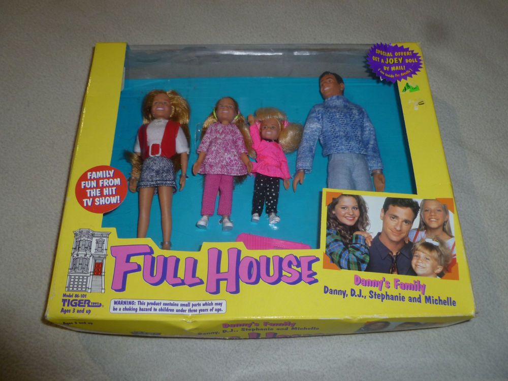 NEW VINTAGE FULL HOUSE DANNYS FAMILY FIGURE SET TIGER 1993 STEPHANIE DJ MICHELLE #TIGER