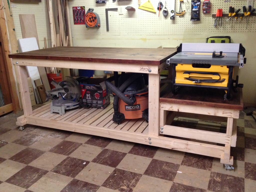 I Built A Sturdy Quot Mobile Quot Workbench For My Tiny Workshop A