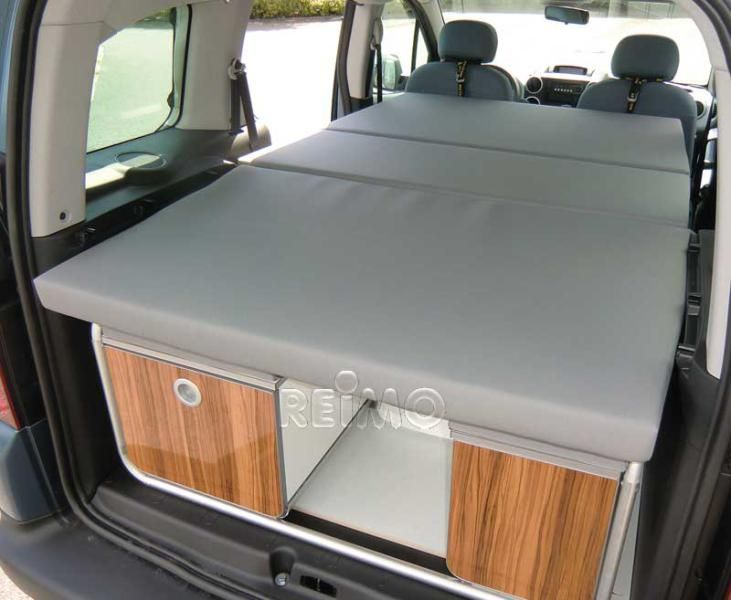 VW Caddy KR Active slatted bed with foam and removable covers