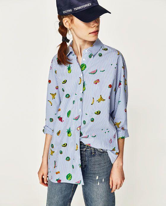 d4c6d9e7 Image 3 of FRUIT PRINT SHIRT from Zara | S/S 17 | Printed shirts ...