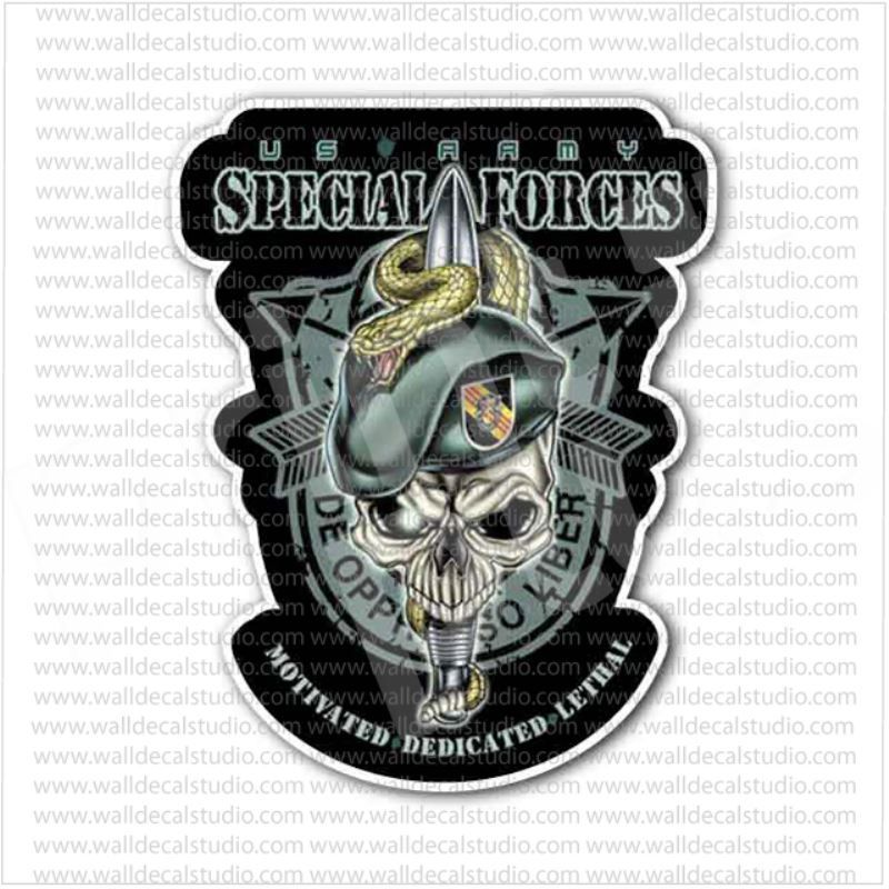 Army Special Forces Decal Sticker     U.S