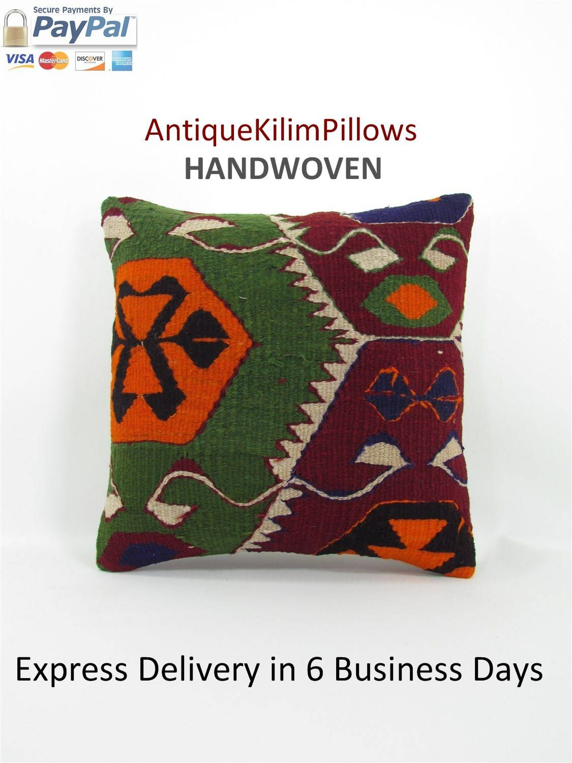 Kilim pillow cover decorative pillows boho chic home decor chair