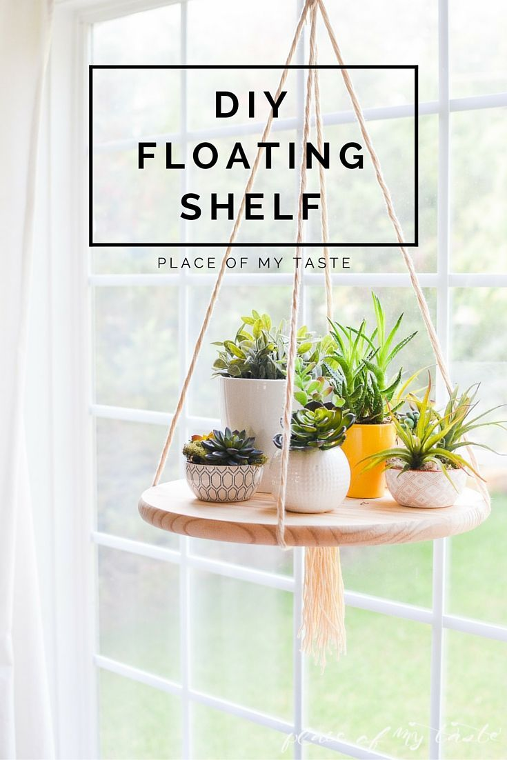 How to's : AWESOME! You can't even imagine how easy is to make this fun DIY FLOATING SHELF. Check it out!