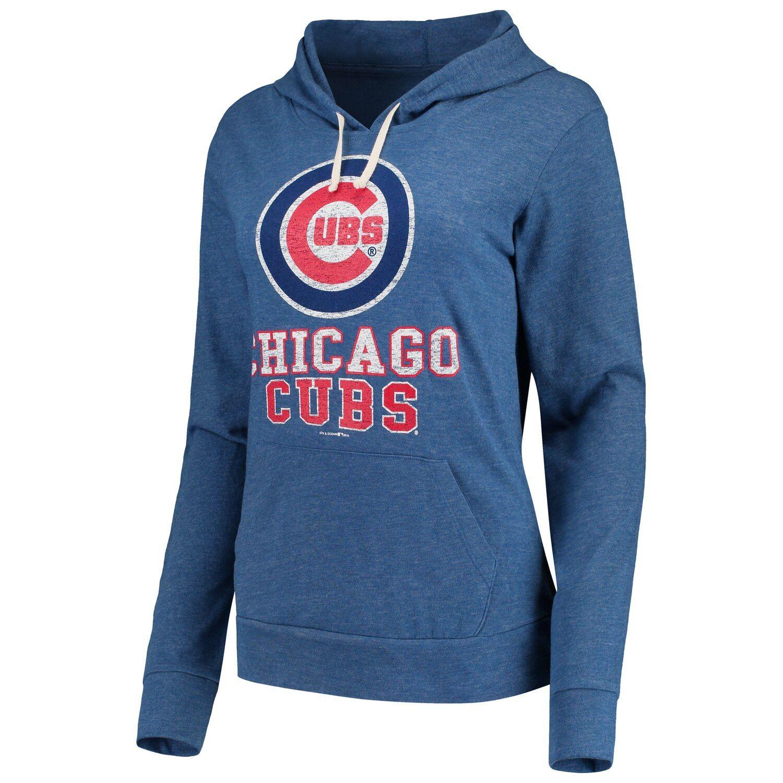 Women S New Era Royal Chicago Cubs Jersey Tri Blend Pullover Hoodie Chicago Cubs Jersey Chicago Cubs Fans New Era [ 1500 x 1500 Pixel ]