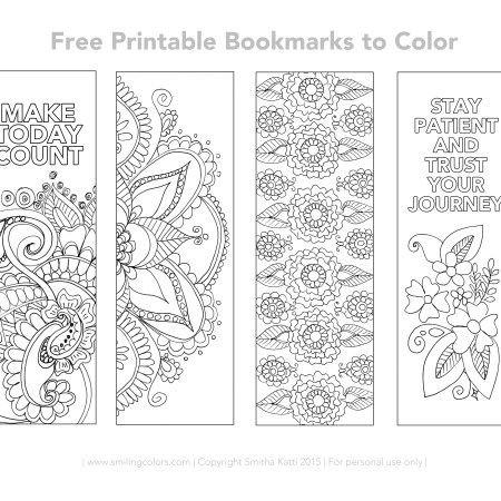 Free Printable Bookmarks to color  Smitha Katti is part of Free printable bookmarks - Enjoy these Free Printable Bookmarks to Color simply download, print and cut to make the bookmarks and then have fun coloring them in!