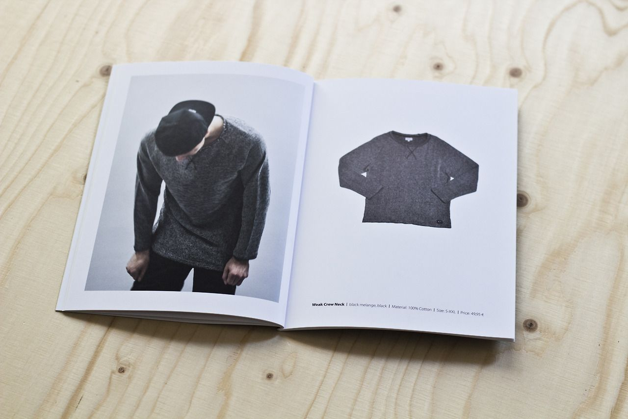 Editorial design product catalogue for the german fashion