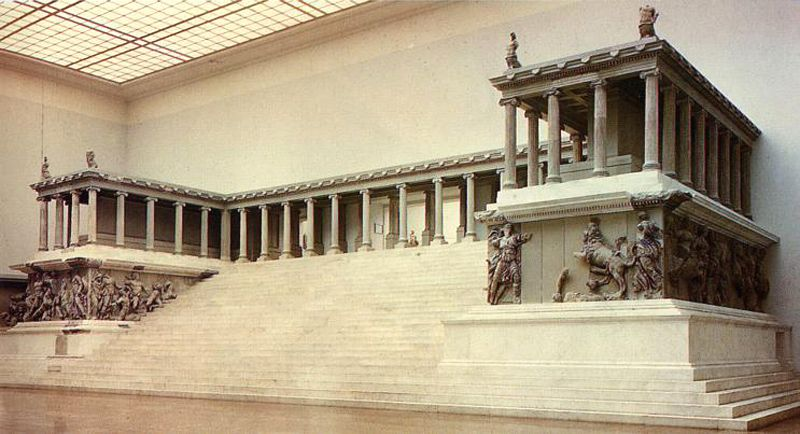 Replica Of The Pergamonaltar Of Zeus Standing In The Pergamon Museum There Is A Second Smaller And L Pergamon Museum Ap Art History 250 Ancient Greek Art
