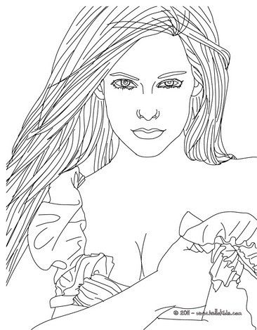 Avril Lavigne coloring page. More Famous people coloring sheets on ...