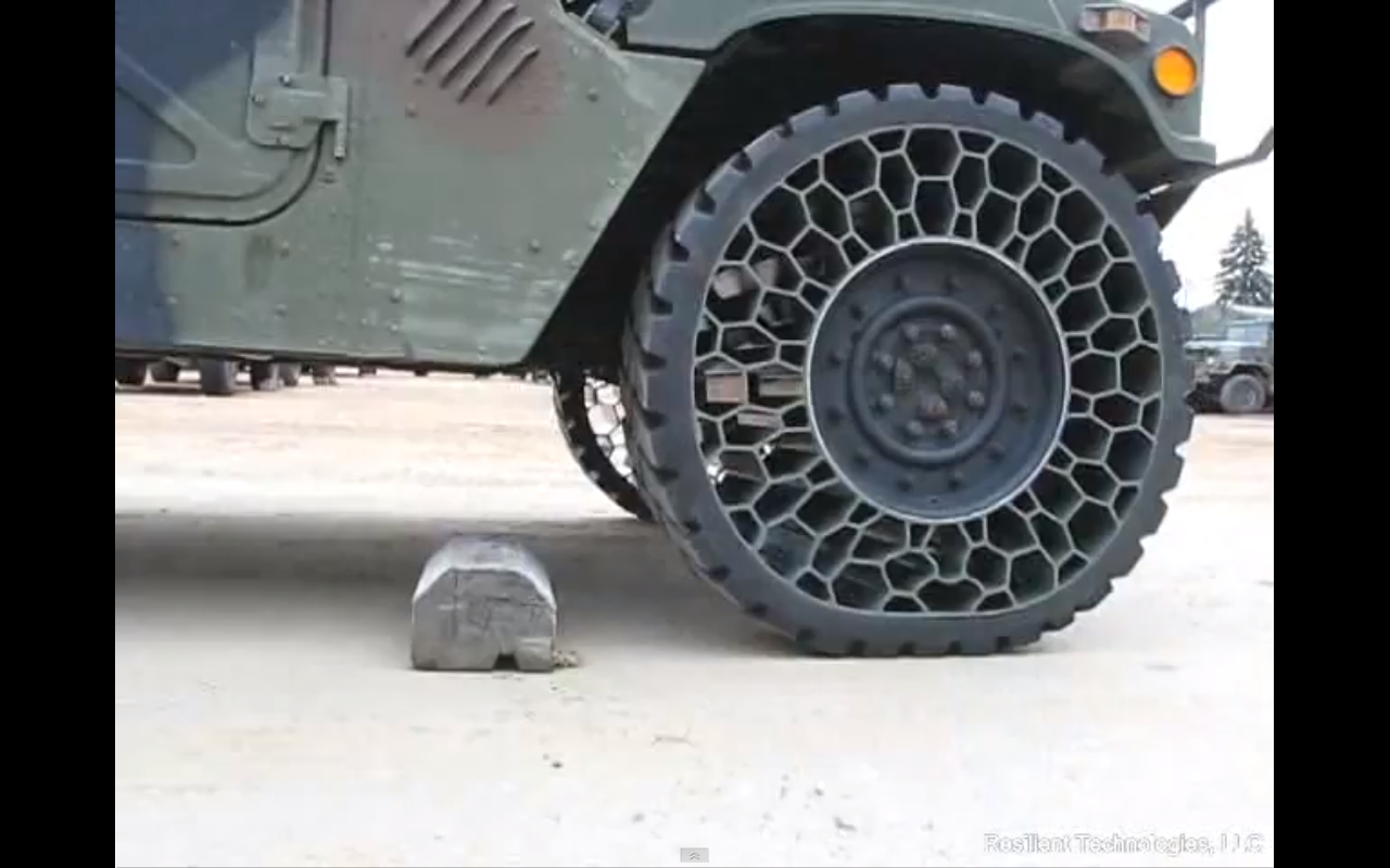 New Airless Tires Improve Battlefield And Off Road Performance No Air Problem