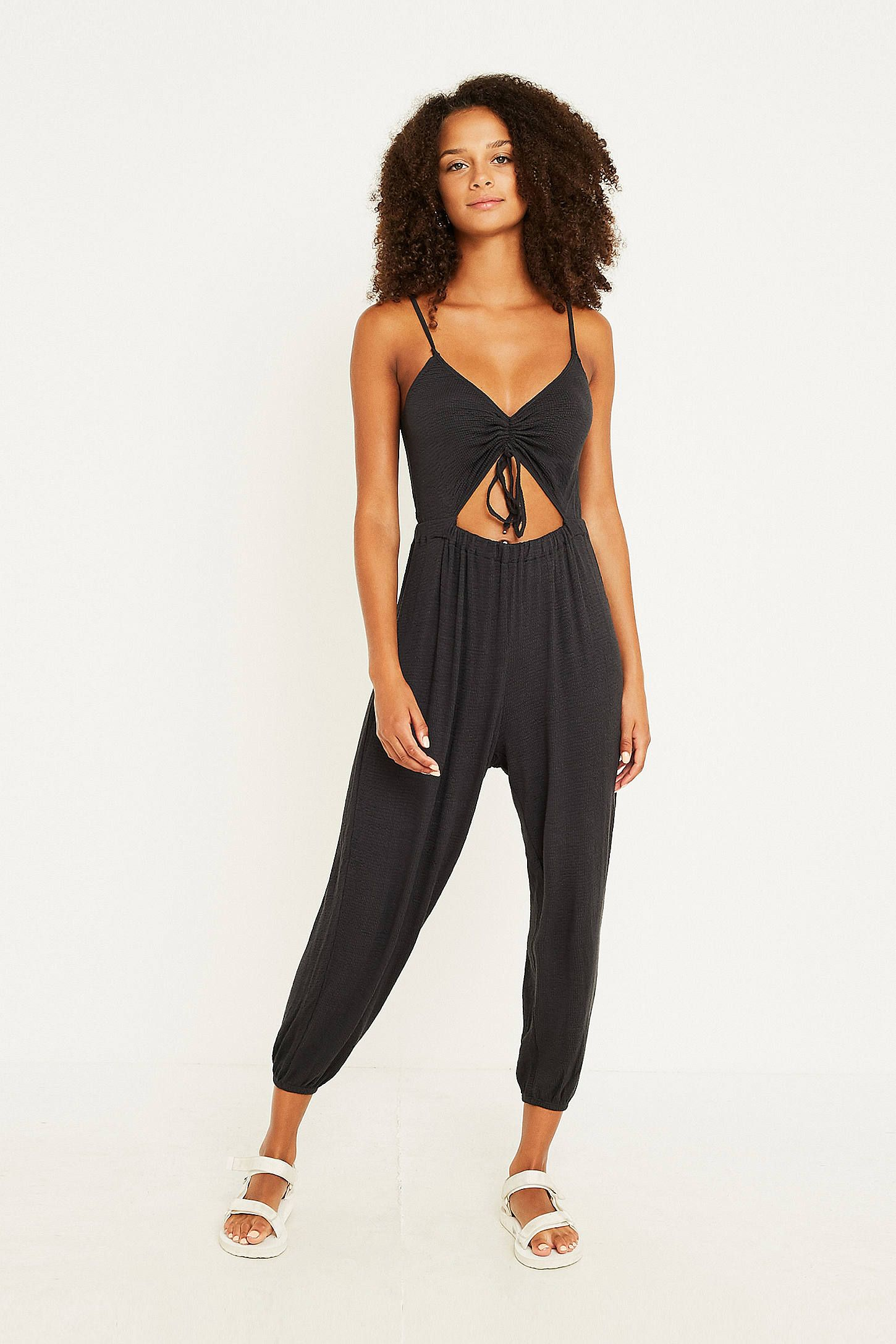81182948c6a9 Out From Under Elsie Cinched Cutout Jumpsuit