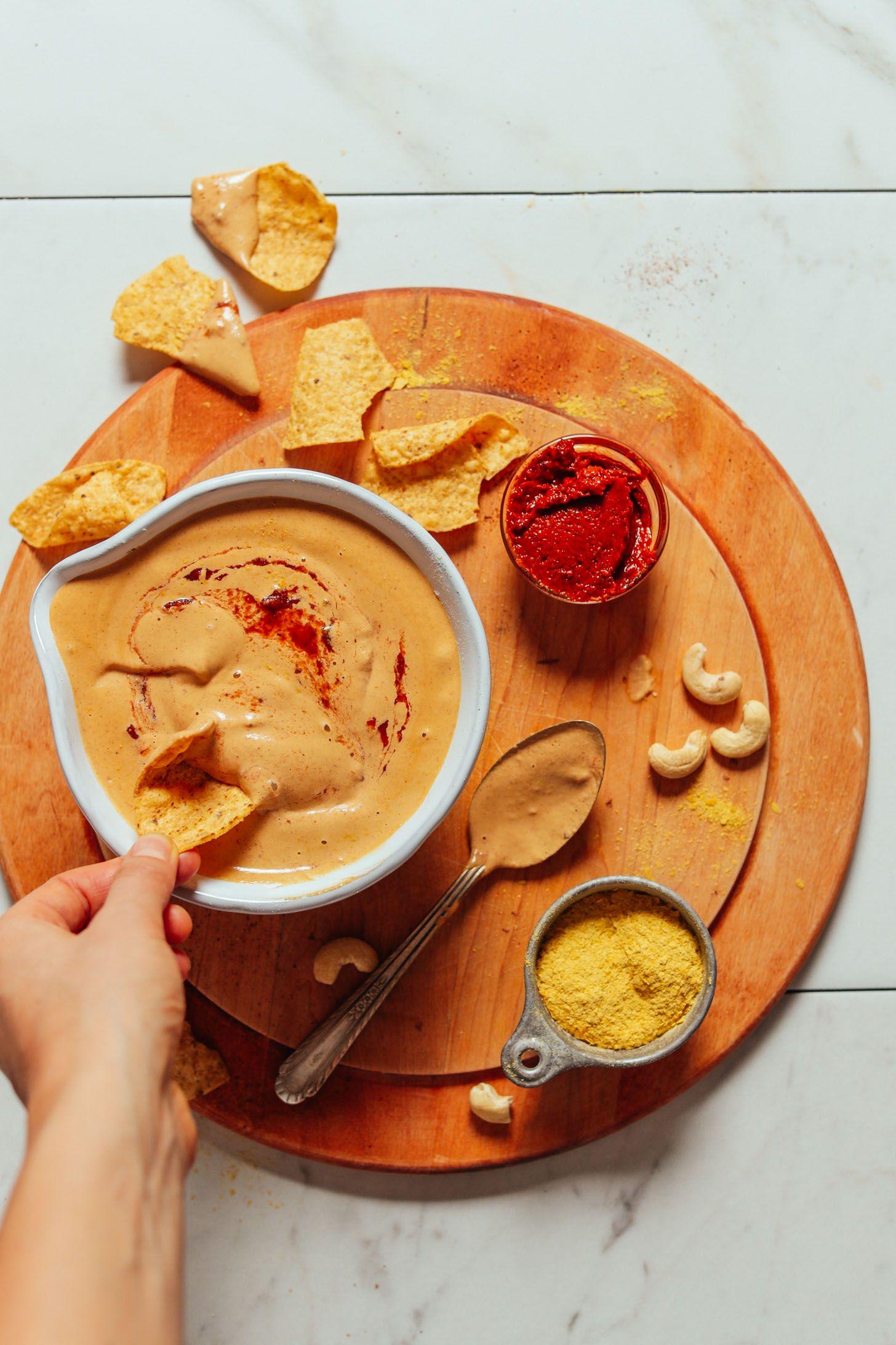 5Minute Vegan Cashew Queso Recipe Baker recipes, Food