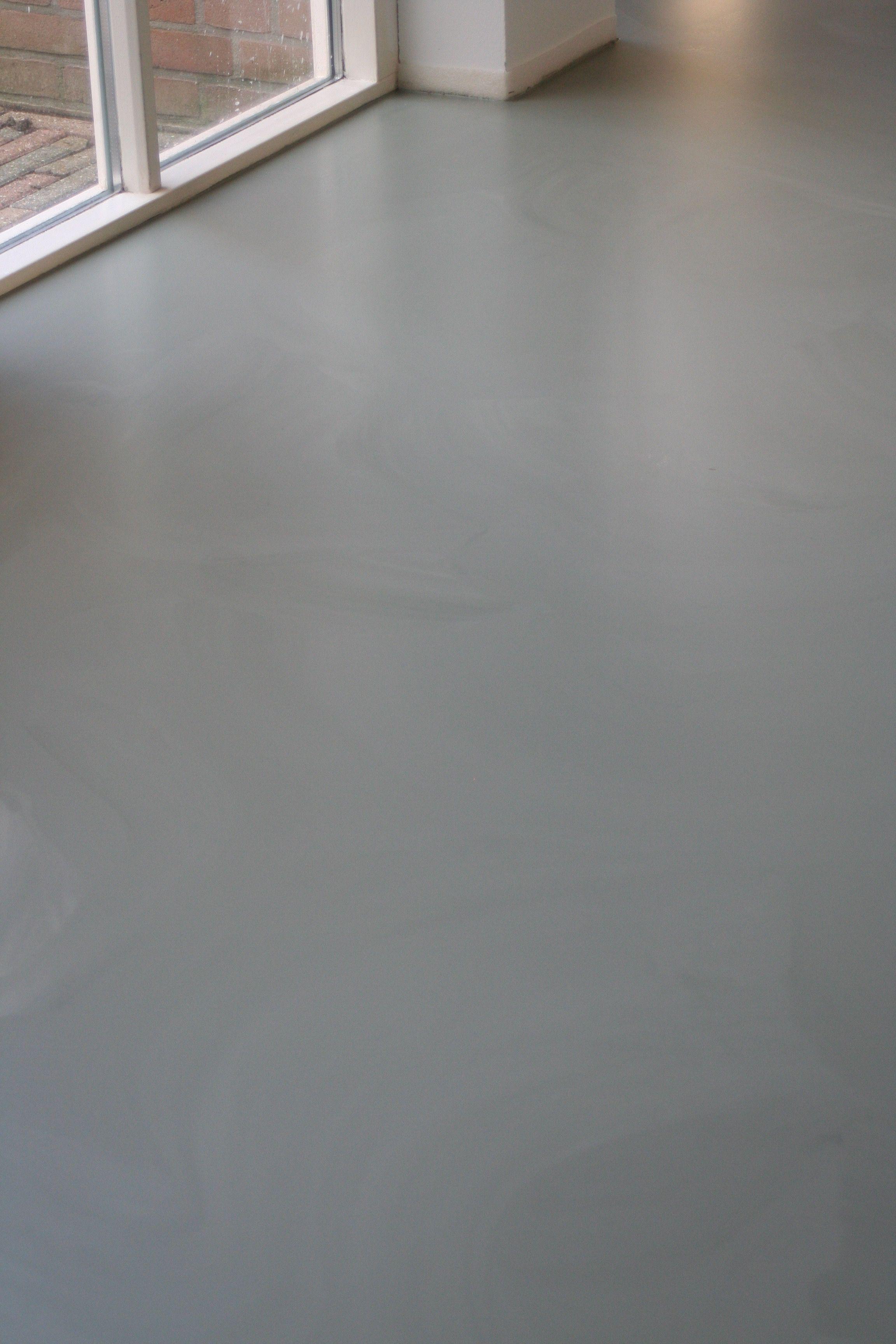 een gemêleerde pu kleur in het groen door vloer en zo project in