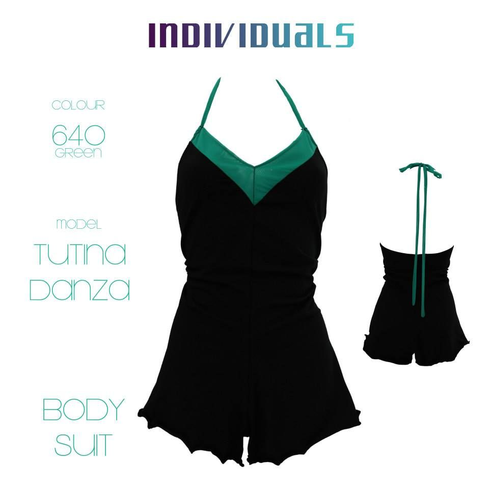 #body #suit #black #green #unique