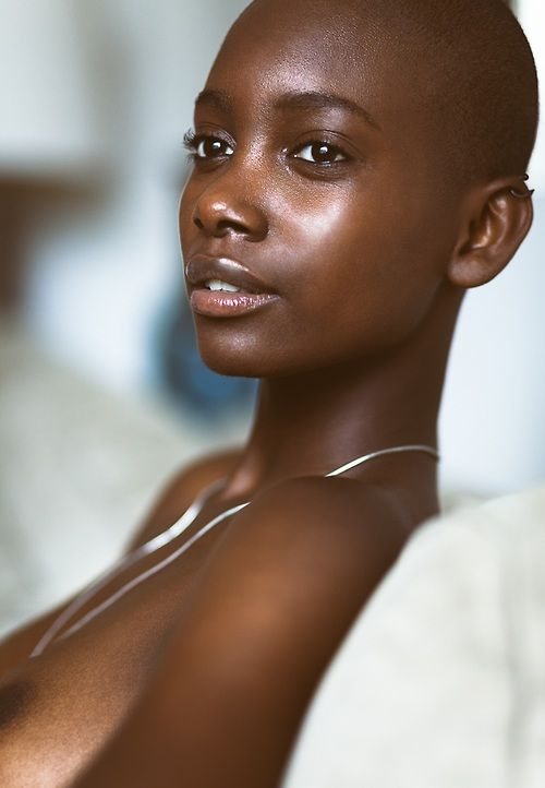 Bald Headed Black Girl In Porn - Breathtaking (source: 1beautybychoice) proving that true beauty does not  need to be painted