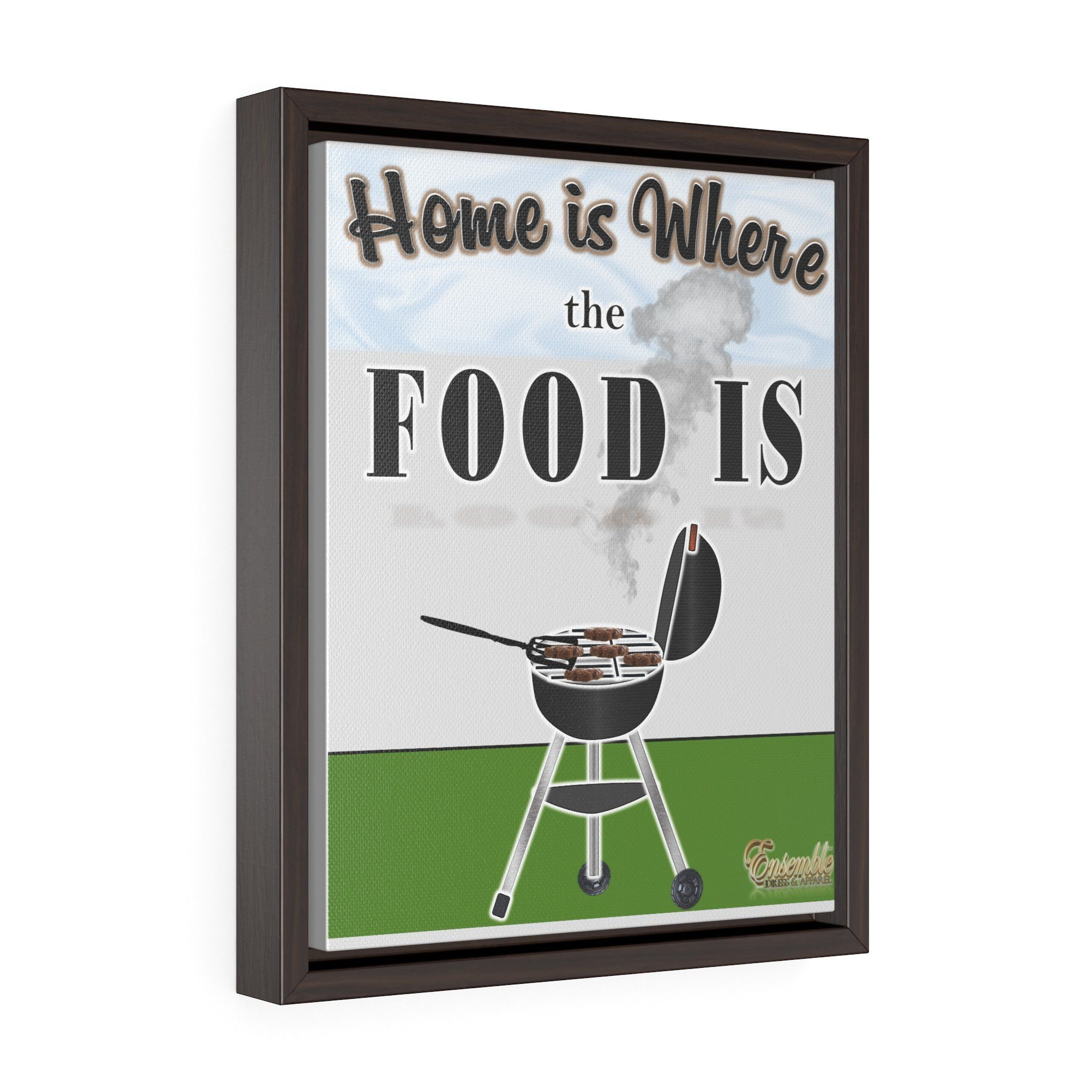HOME IS… (GRILLIN\') Vertical Framed Premium Gallery Wrap Canvas ...