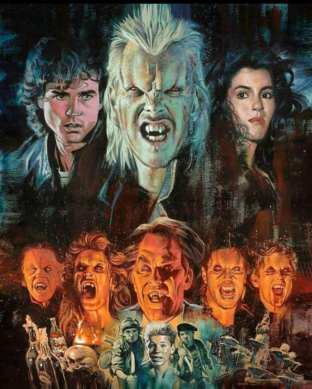 Thelostboys Classic Theyareonlynoodlesmichael 80smovies Vampires Horrorfan Horrorgram Horror Movie Characters Horror Movie Art Horror Posters